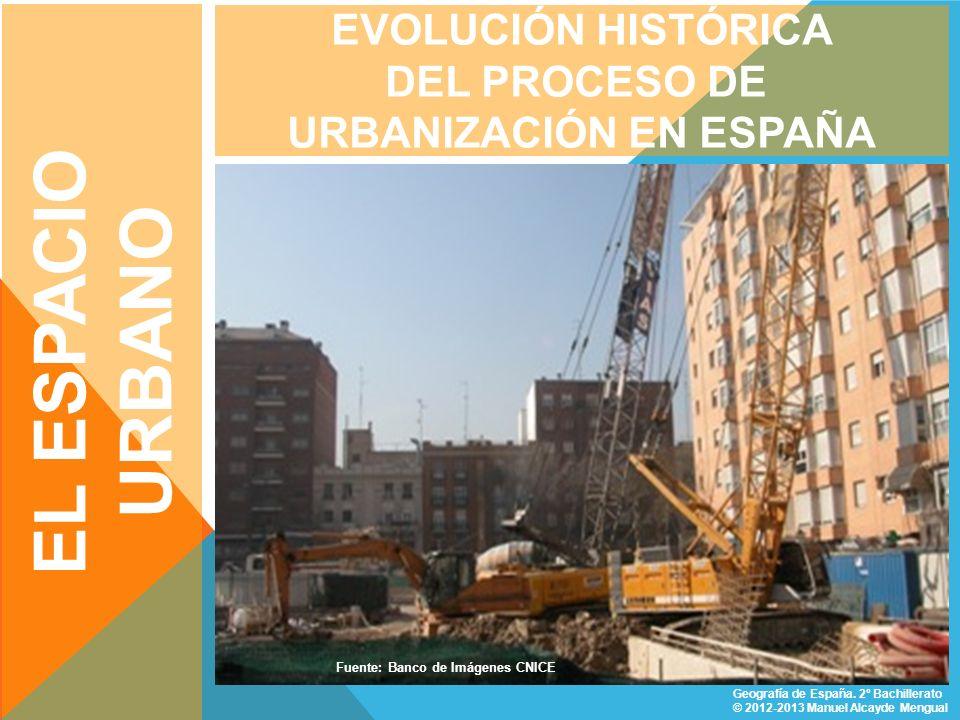 URBANIZACIÓN INDUSTRIAL CARACTERÍSTICAS Comprende desde el inicio de la industrialización (en España primer tercio del S.