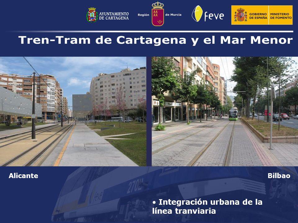 Integración urbana de la línea tranviaria AlicanteBilbao