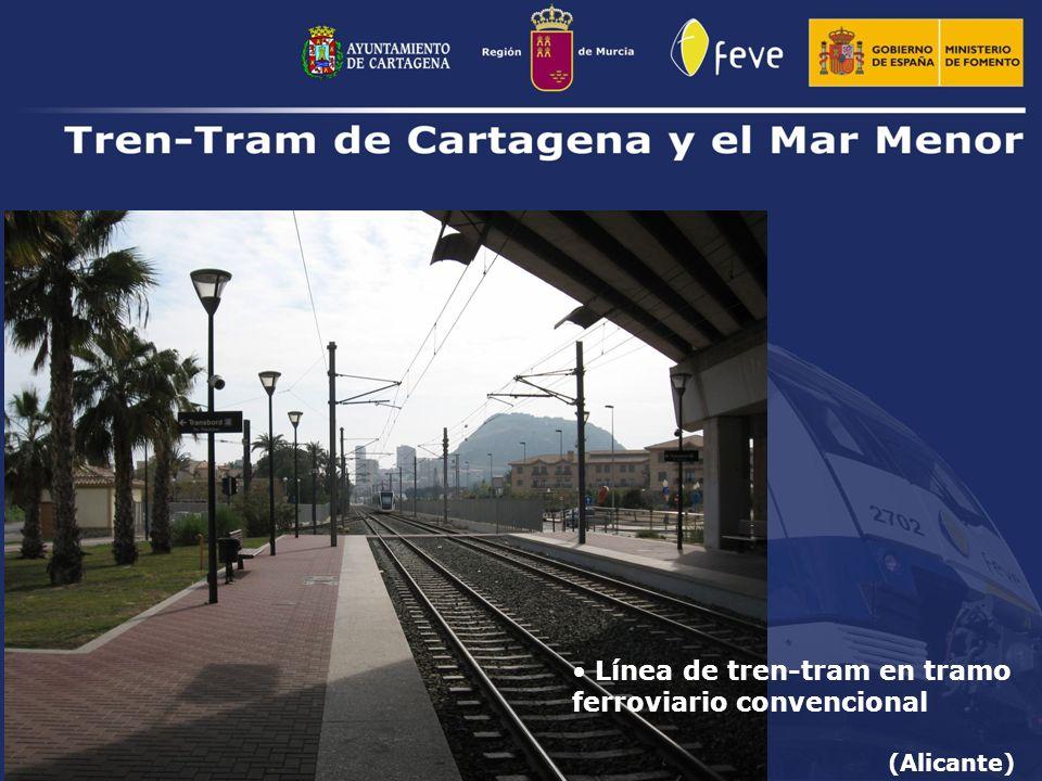 Línea de tren-tram en tramo ferroviario convencional (Alicante)