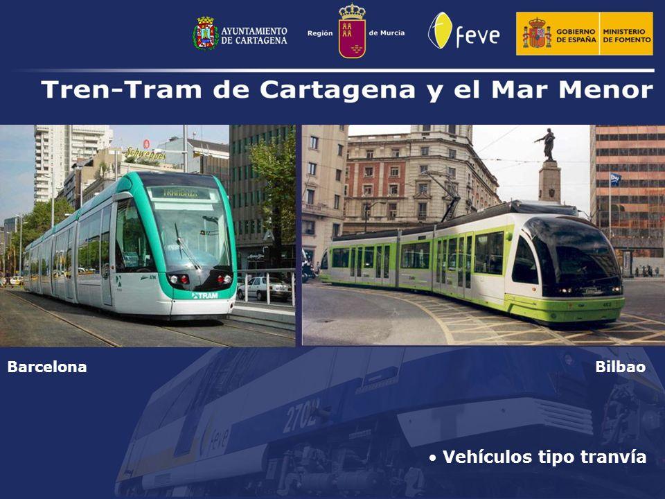 Vehículos tipo tranvía BilbaoBarcelona