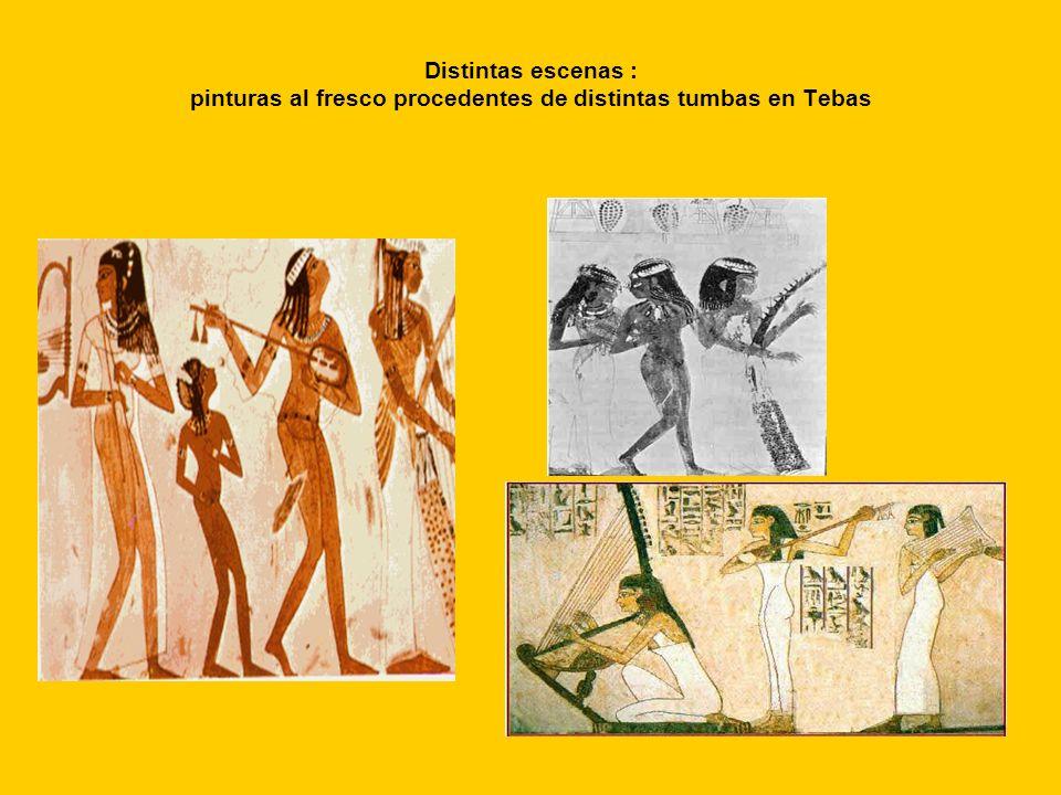 Distintas escenas : pinturas al fresco procedentes de distintas tumbas en Tebas
