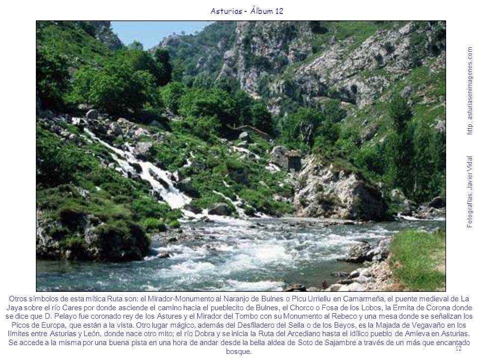 12 Asturias - Álbum 12 Fotografías: Javier Vidal http: asturiasenimagenes.com Otros símbolos de esta mítica Ruta son: el Mirador-Monumento al Naranjo