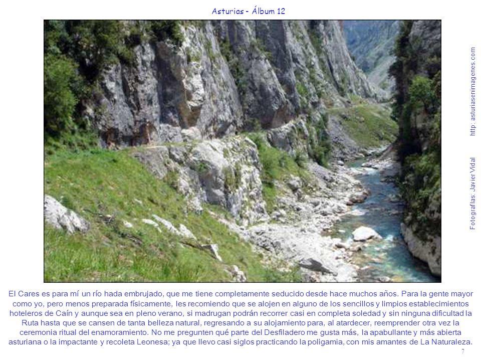 7 Asturias - Álbum 12 Fotografías: Javier Vidal http: asturiasenimagenes.com El Cares es para mí un río hada embrujado, que me tiene completamente sed