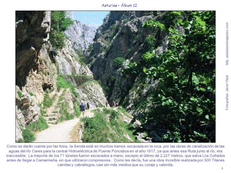9 Asturias - Álbum 12 Fotografías: Javier Vidal http: asturiasenimagenes.com Como se darán cuenta por las fotos, la Senda está en muchos tramos excava