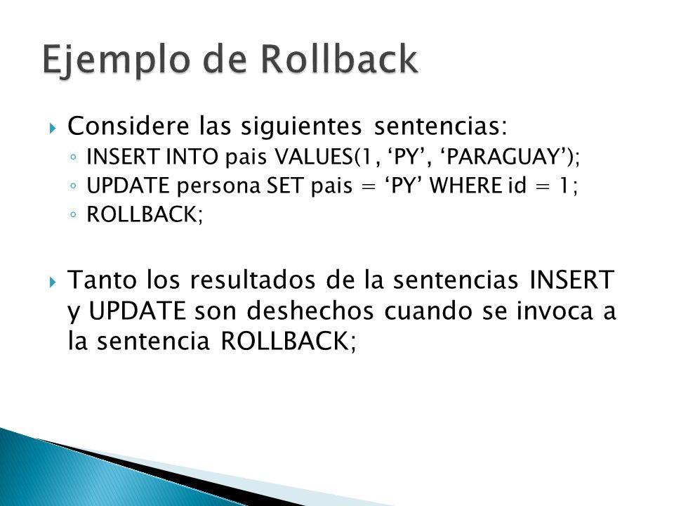 Es posible declarar puntos intermedios en una transacción que permiten guardar el trabajo realizado hasta el mismo y a partir de los cuales es posible continuar cuando ocurre un fallo.