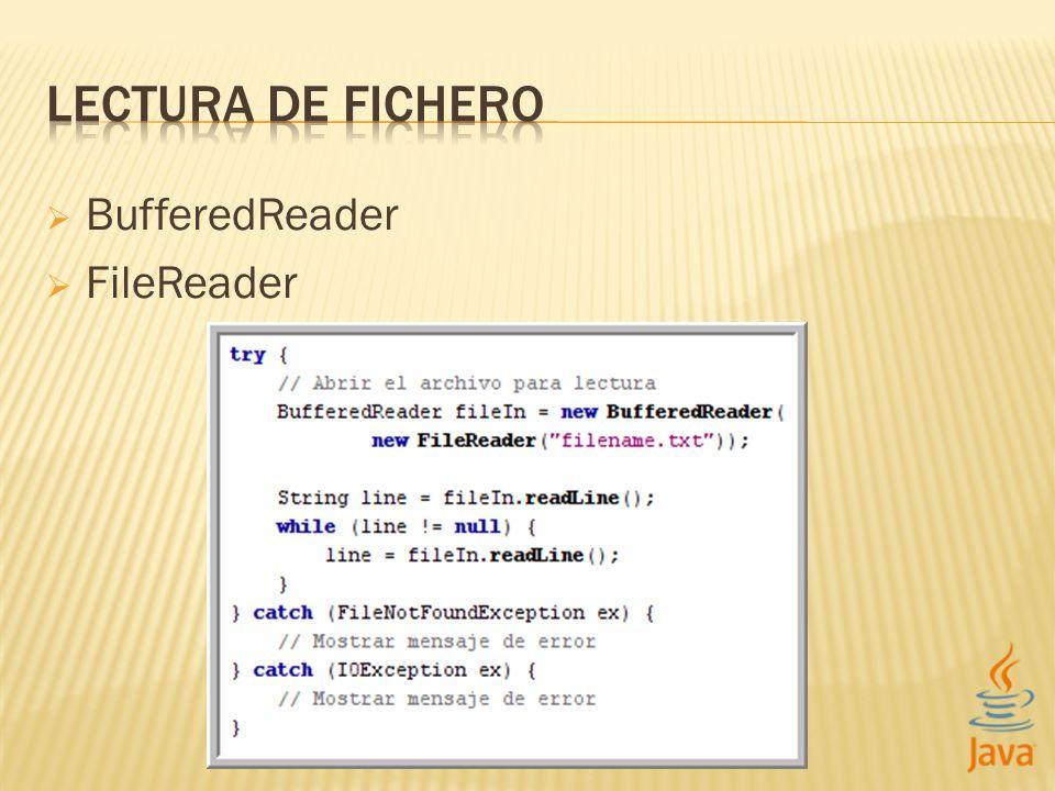 BufferedReader FileReader