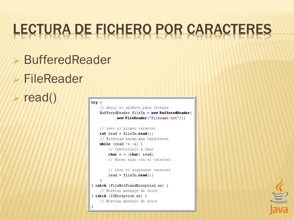 BufferedReader FileReader read()