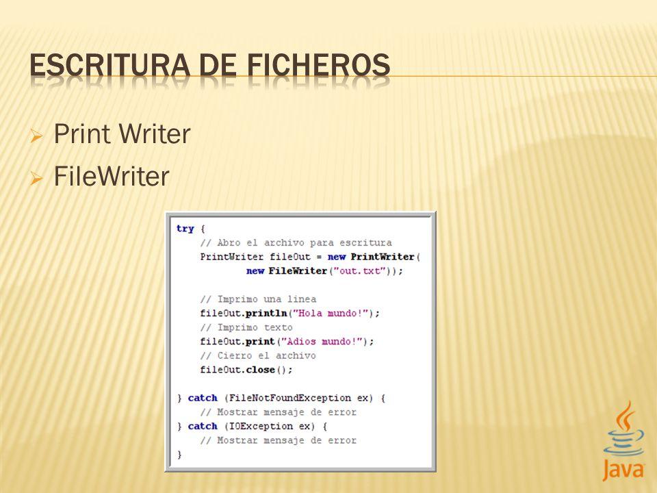 Print Writer FileWriter