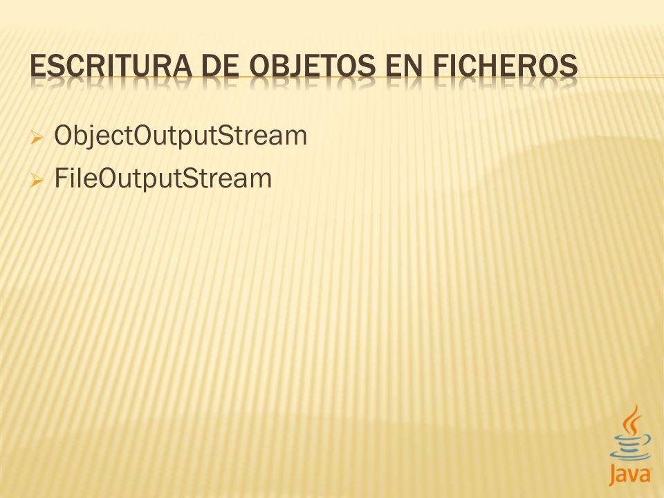 ObjectOutputStream FileOutputStream