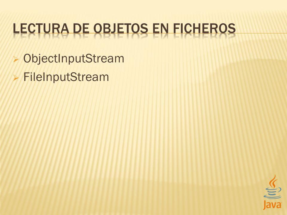 ObjectInputStream FileInputStream