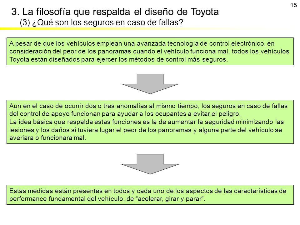 15 Estas medidas están presentes en todos y cada uno de los aspectos de las características de performance fundamental del vehículo, de acelerar, gira