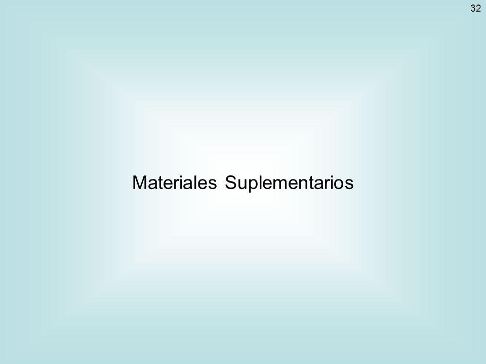 32 Materiales Suplementarios