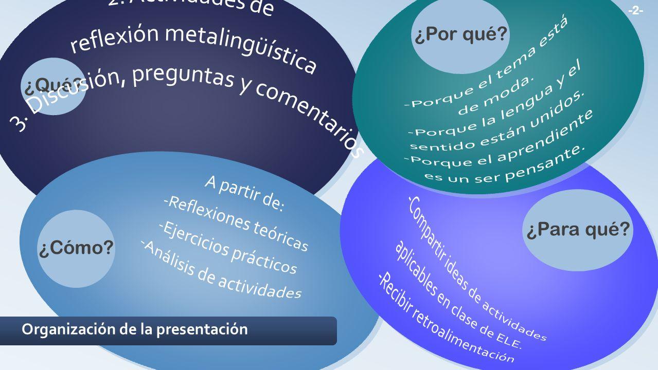 2.Actividades de reflexión metalingüística 2.1.