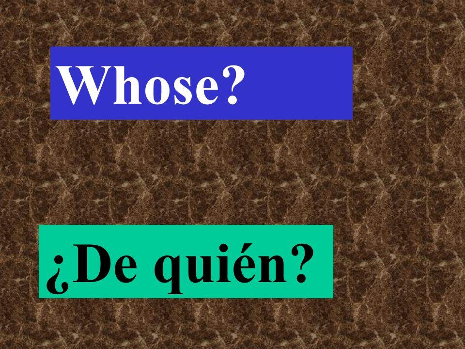 The question word we use to get a description… ¿Cómo?