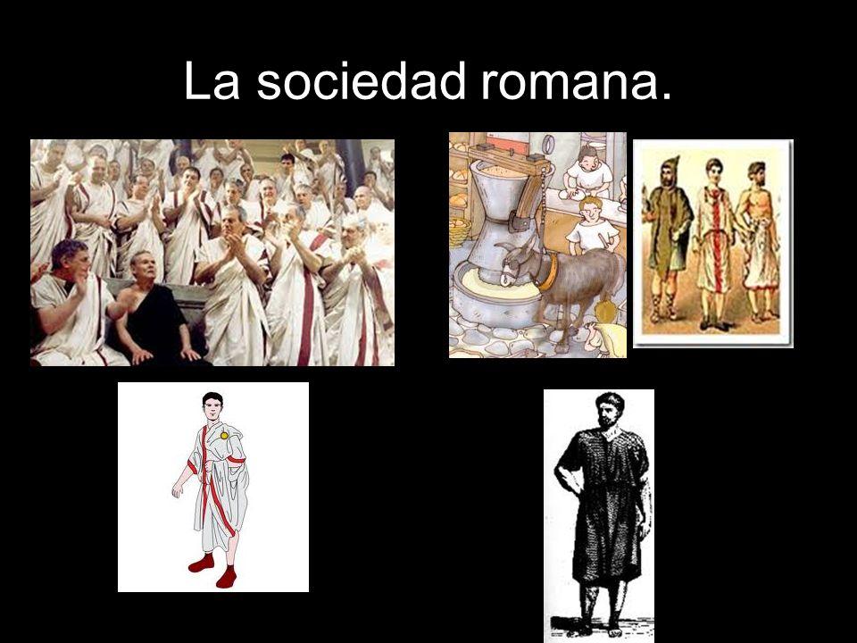 La sociedad romana.