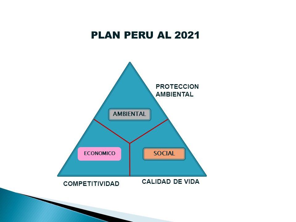 AMBIENTAL ECONOMICO SOCIAL PLAN PERU AL 2021 PROTECCION AMBIENTAL COMPETITIVIDAD CALIDAD DE VIDA