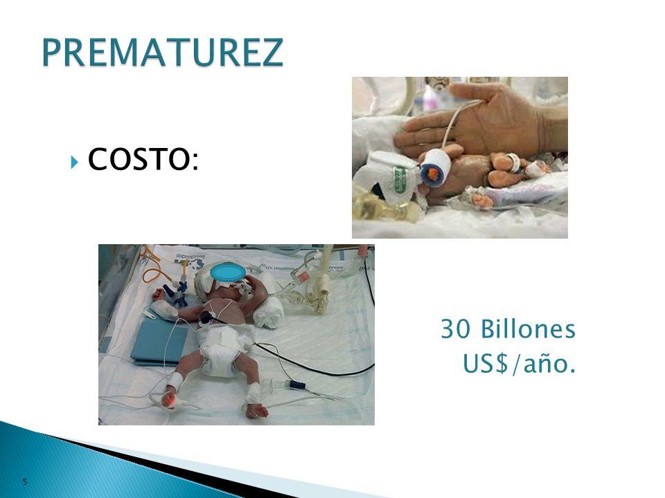 COSTO: 30 Billones US$/año. 5