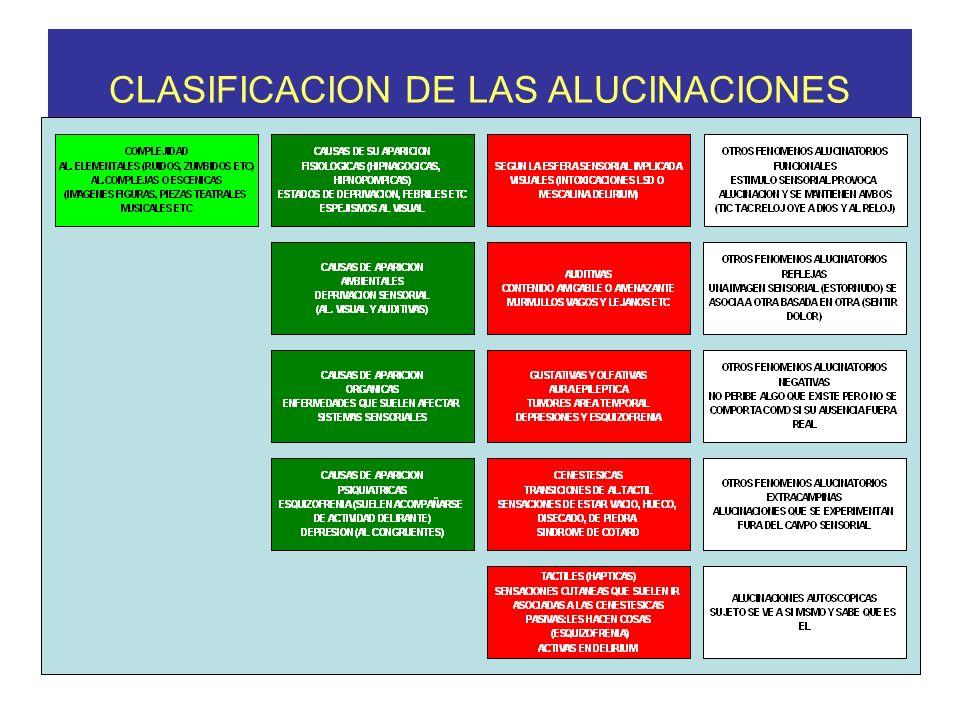 CLASIFICACION DE LAS ALUCINACIONES