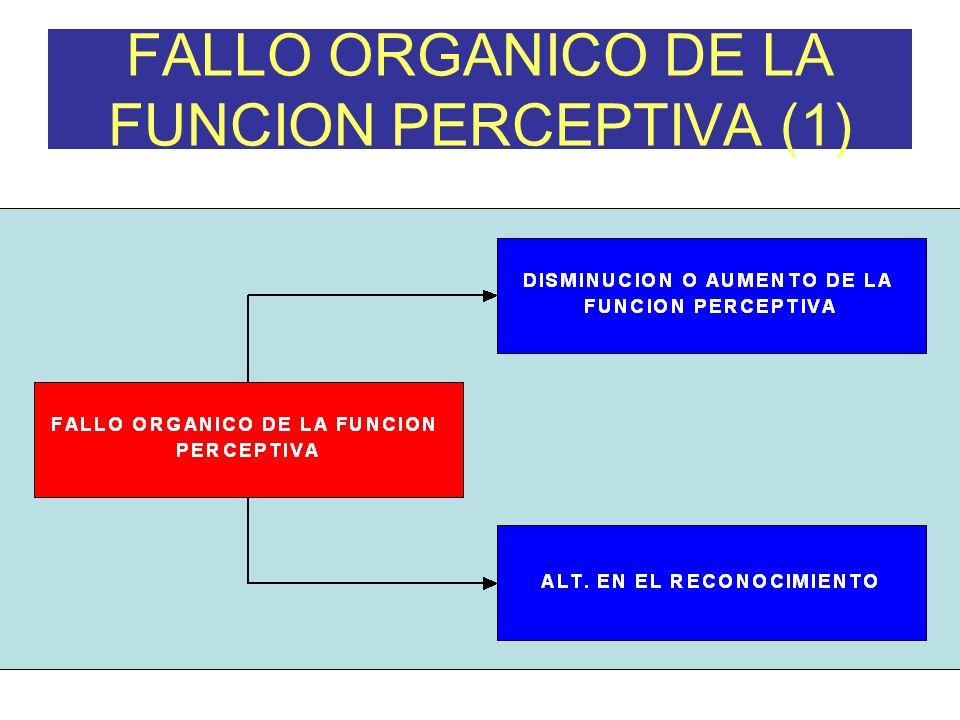 FALLO ORGANICO DE LA FUNCION PERCEPTIVA (1)