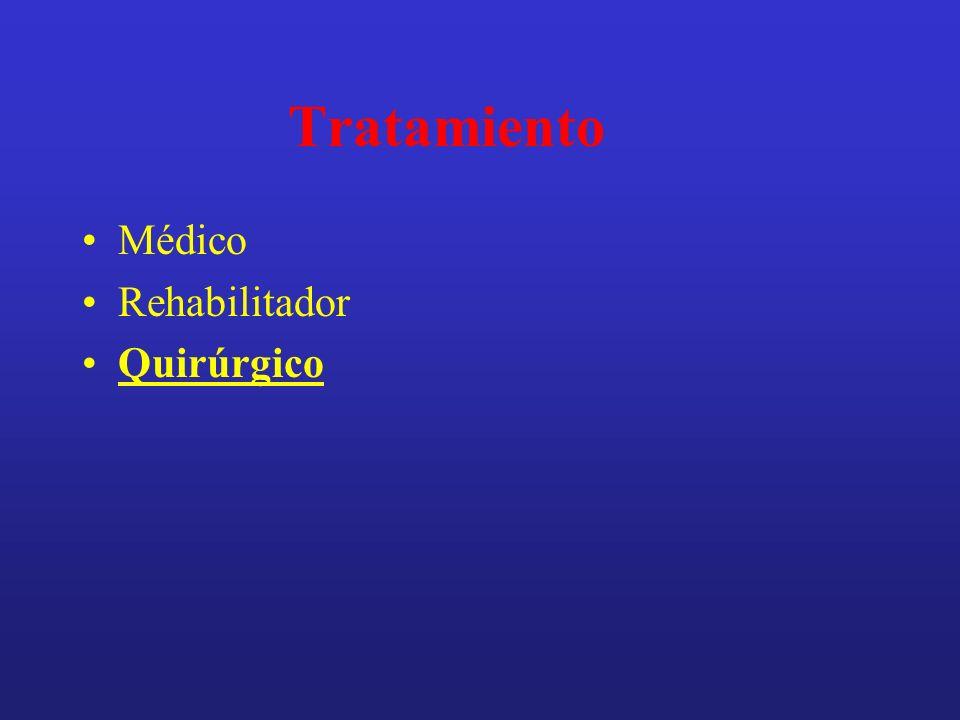 Tratamiento Médico Rehabilitador Quirúrgico