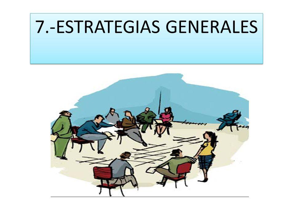 7.-ESTRATEGIAS GENERALES