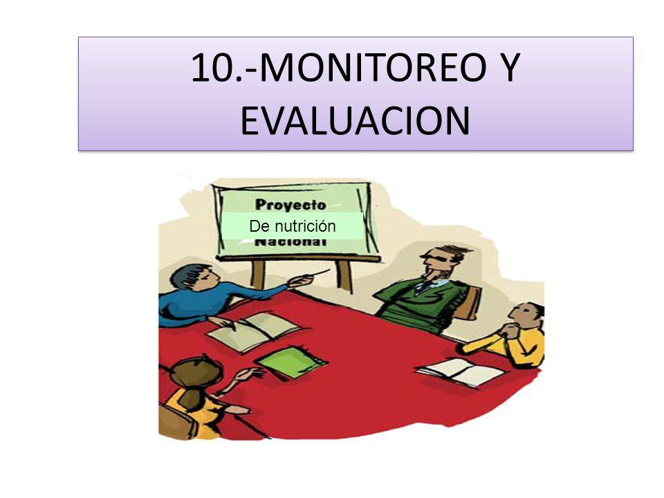 10.-MONITOREO Y EVALUACION De nutrición