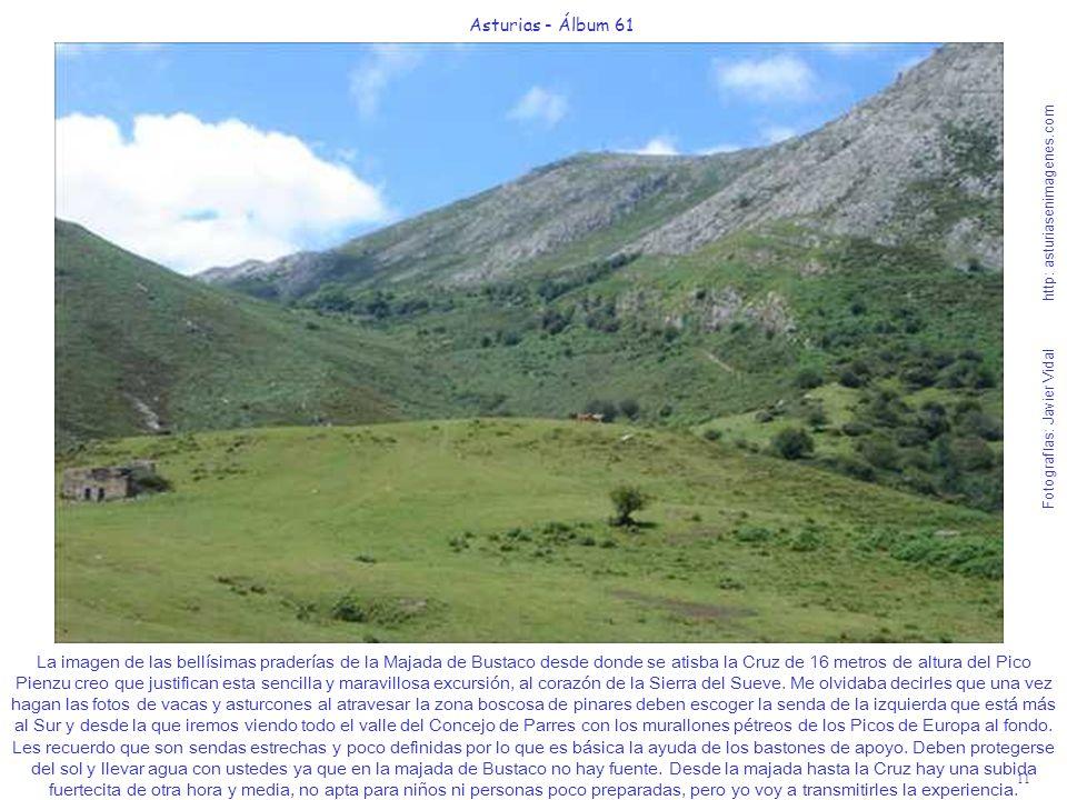 11 Asturias - Álbum 61 Fotografías: Javier Vidal http: asturiasenimagenes.com La imagen de las bellísimas praderías de la Majada de Bustaco desde dond