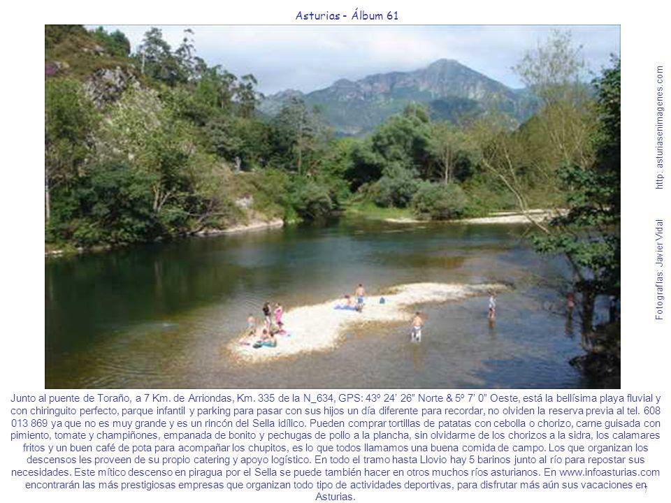 7 Asturias - Álbum 61 Fotografías: Javier Vidal http: asturiasenimagenes.com Junto al puente de Toraño, a 7 Km. de Arriondas, Km. 335 de la N_634, GPS