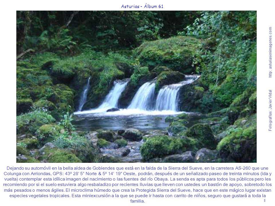 8 Asturias - Álbum 61 Fotografías: Javier Vidal http: asturiasenimagenes.com Dejando su automóvil en la bella aldea de Gobiendes que está en la falda