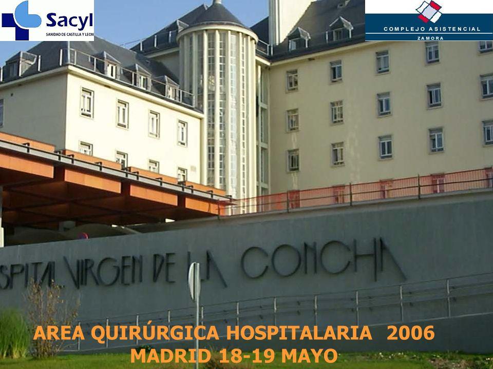 Inserte aquí el logo de su Empresa AREA QUIRÚRGICA HOSPITALARIA 2006 MADRID 18-19 MAYO
