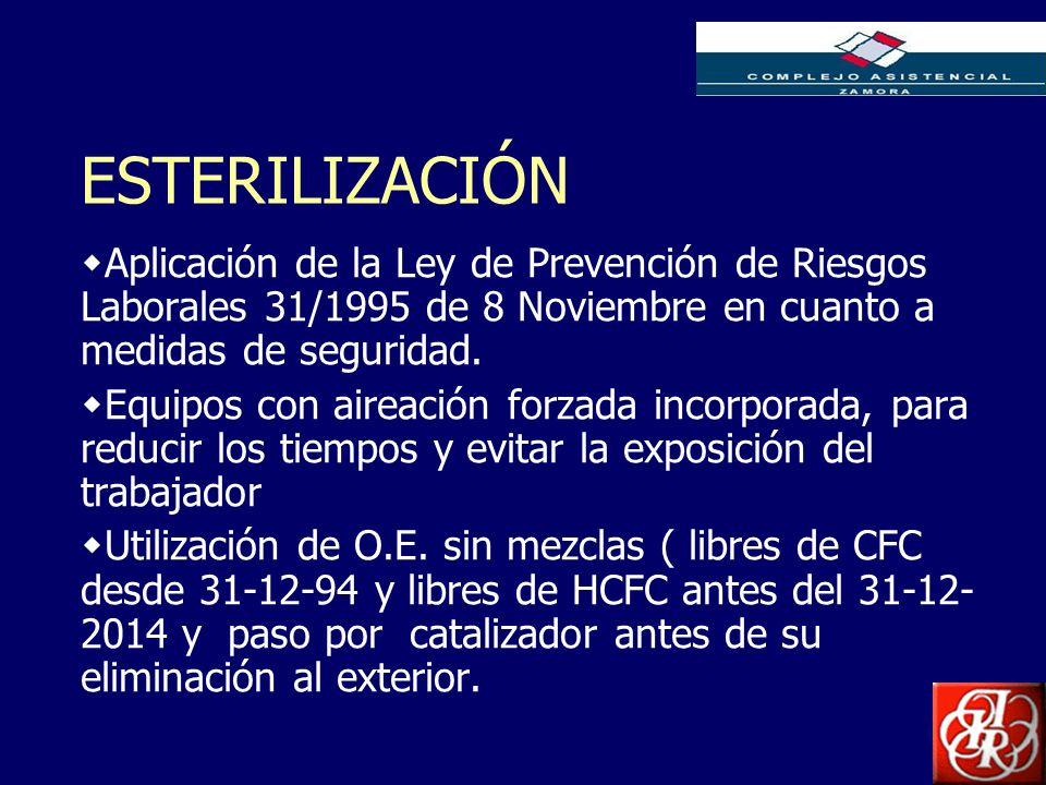 Inserte aquí el logo de su Empresa ESTERILIZACIÓN Aplicación de la Ley de Prevención de Riesgos Laborales 31/1995 de 8 Noviembre en cuanto a medidas d