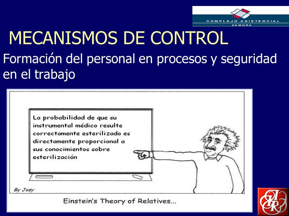 Inserte aquí el logo de su Empresa MECANISMOS DE CONTROL Formación del personal en procesos y seguridad en el trabajo