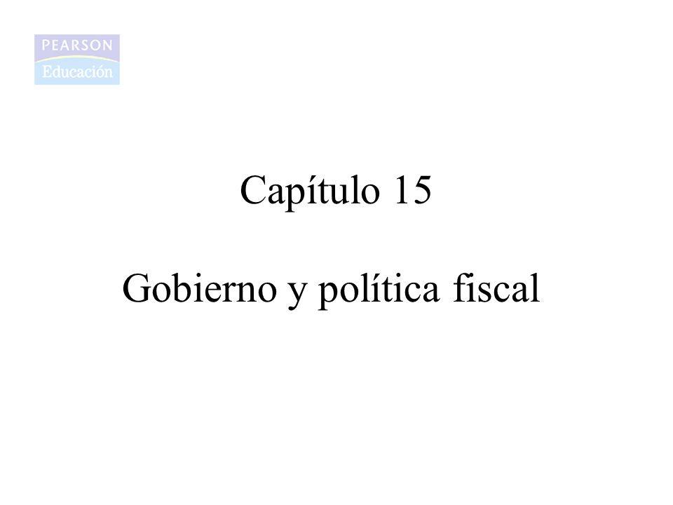 Capítulo 15 Gobierno y política fiscal