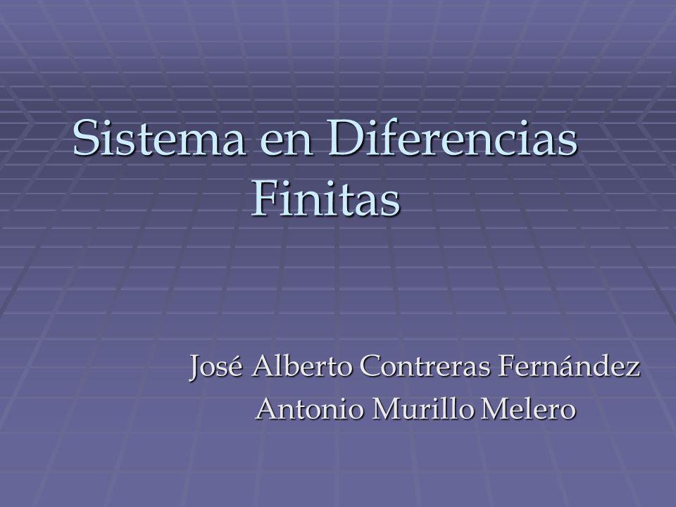 Sistema en Diferencias Finitas José Alberto Contreras Fernández Antonio Murillo Melero