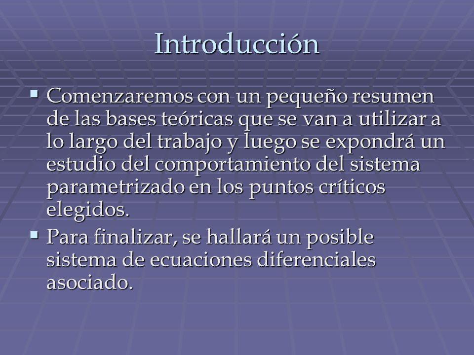 Ecuación diferencial asociada El sistema resultante sería: El sistema resultante sería: