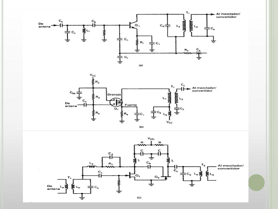 SECCION DE MEZCLADOR/CONVERTIDOR En esta sección está una etapa de oscilador de radiofrecuencia (oscilador local) y una etapa de mezclador/convertidor (primer detector).