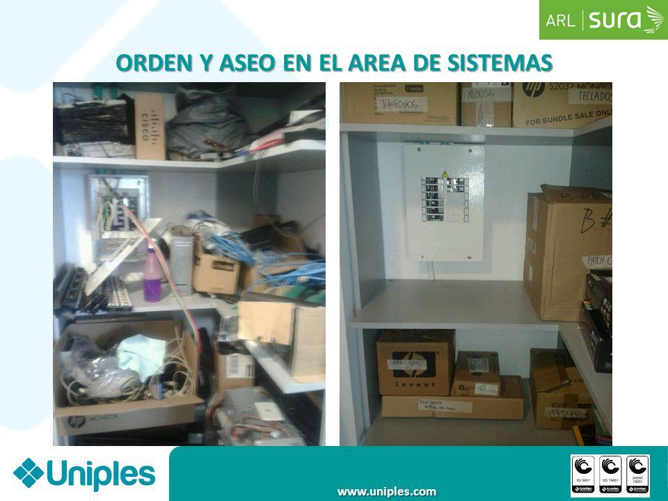 www.uniples.com ORDEN Y ASEO EN EL AREA DE SISTEMAS
