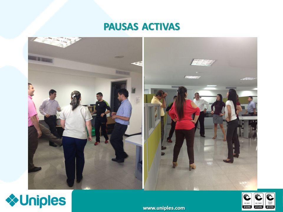 www.uniples.com PAUSAS ACTIVAS
