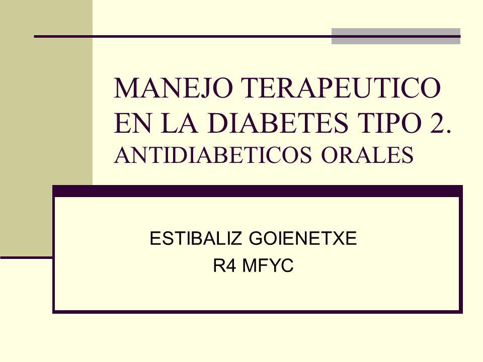 OBJETIVOS Recordar: Criterios diagnósticos La importancia de un tto integral Conocer los ADO Insulinoterapia