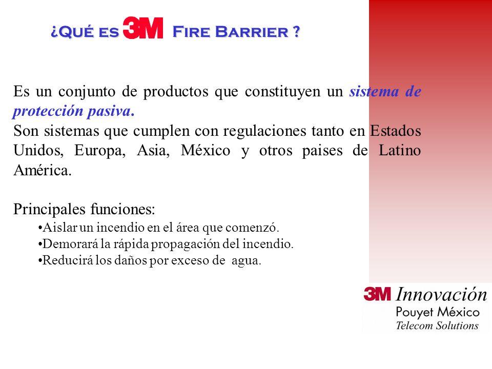 ¿Qué es Fire Barrier .Es un conjunto de productos que constituyen un sistema de protección pasiva.