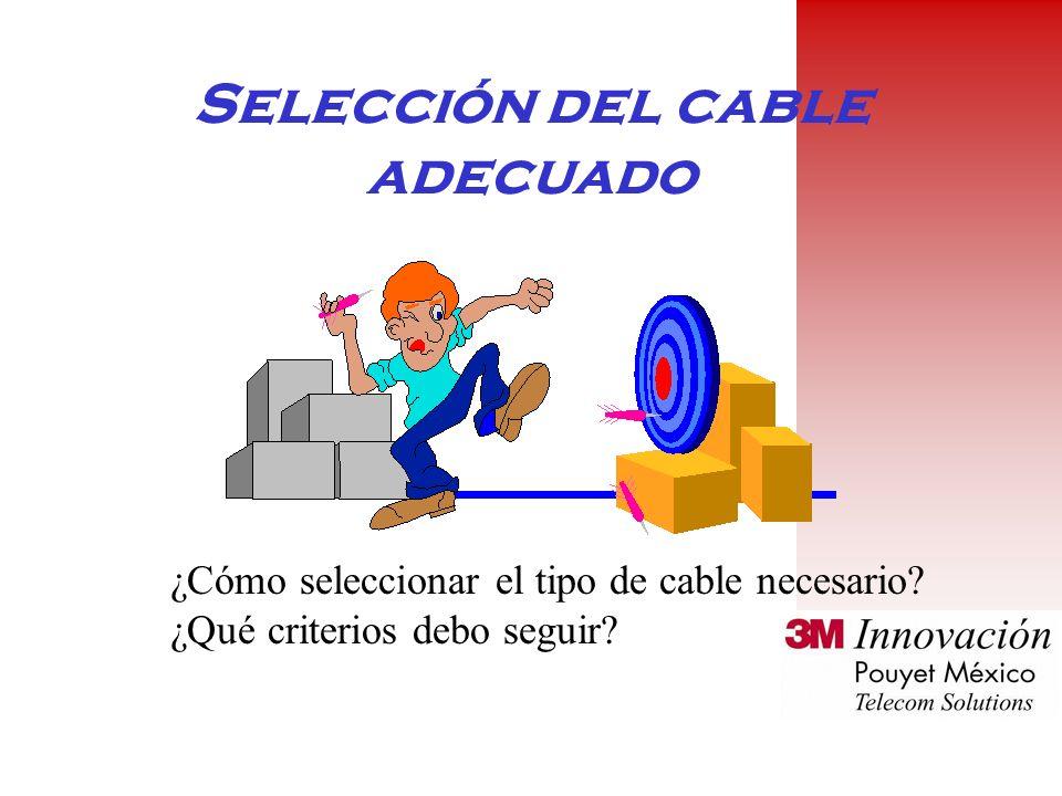 Selección del cable adecuado ¿Cómo seleccionar el tipo de cable necesario.