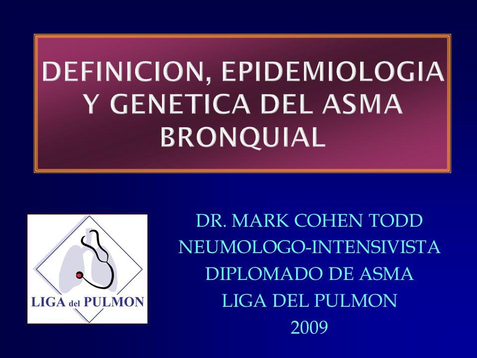 DR. MARK COHEN TODD NEUMOLOGO-INTENSIVISTA DIPLOMADO DE ASMA LIGA DEL PULMON 2009