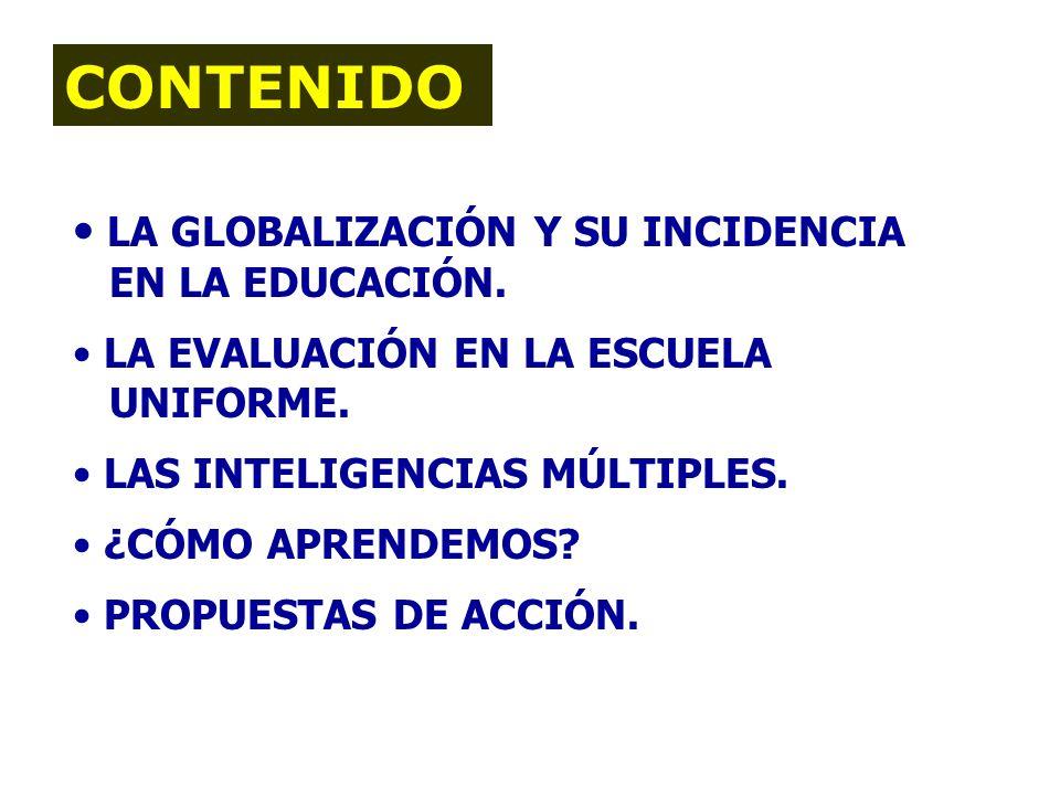 (66) INTELIGENCIAS MÚLTIPLES: BASES PARA TRANSFORMAR EL SISTEMA EDUCATIVO JOSE ROBERTO ALEGRIA COTO Depto. de Desarrollo Científico y Tecnológico rale