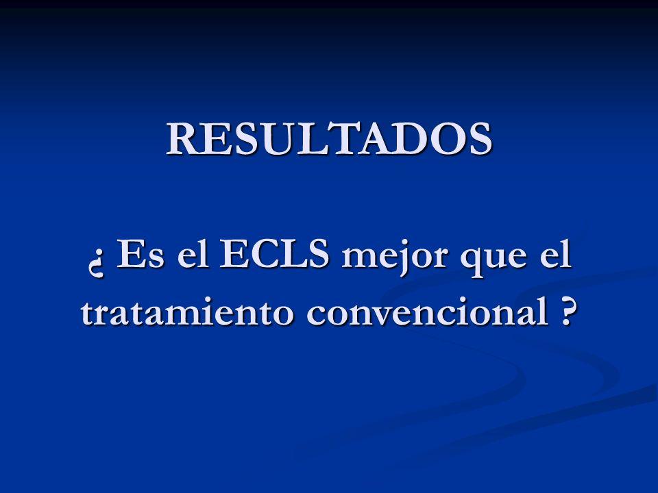 RESULTADOS ¿ Es el ECLS mejor que el tratamiento convencional ?