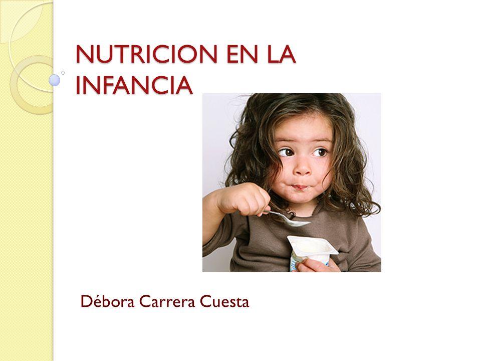 Consideraciones alimentarias Establecimiento de hábitos alimentarios: o El niño está obligado a ingerir una dieta variada, es decir, estando presentes los alimentos de todos los grupos con las frecuencias correspondientes.