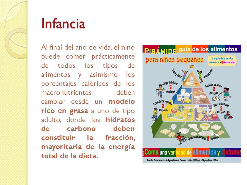 Infancia Recomendaciones nutricionales Consideraciones alimentarias Comida y Bebida basura