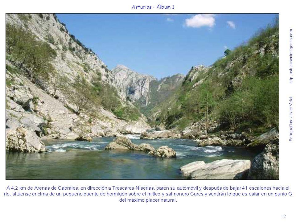 Fotografías: Javier Vidal http: asturiasenimagenes.com 12 Asturias - Älbum 1 A 4,2 km de Arenas de Cabrales, en dirección a Trescares-Niserias, paren