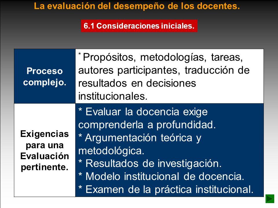 La evaluación del desempeño de los docentes. Proceso complejo. * Propósitos, metodologías, tareas, autores participantes, traducción de resultados en