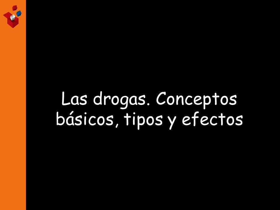 Las drogas. Conceptos básicos, tipos y efectos