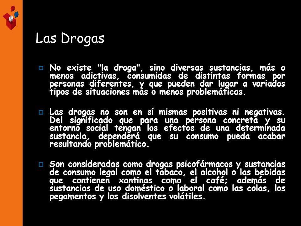 Clasificación de las drogas Según su origen Legalidad Sus efectos sobre el sistema nervioso.